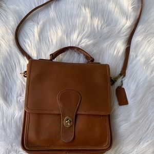 Vintage coach leather brown Crossbody